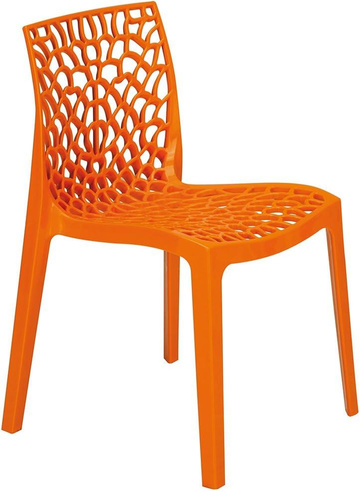 Arancione Polipropilene Arancione 51/x 52/x 81/cm 51x52x81 cm /& Upon Gruvyer Sedia Impilabile 51x52x81/Cm Polipropilene Blu Avio Blue Grand Soleil S6316BA Upon Gruvyer Sedia impilabile