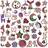 YUEAON 50pcs Enamel Charms for J...