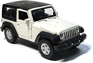 HCK Jeep Wrangler Rubicon 4.25 Inch New Exploration Diecast Model Toy Car White