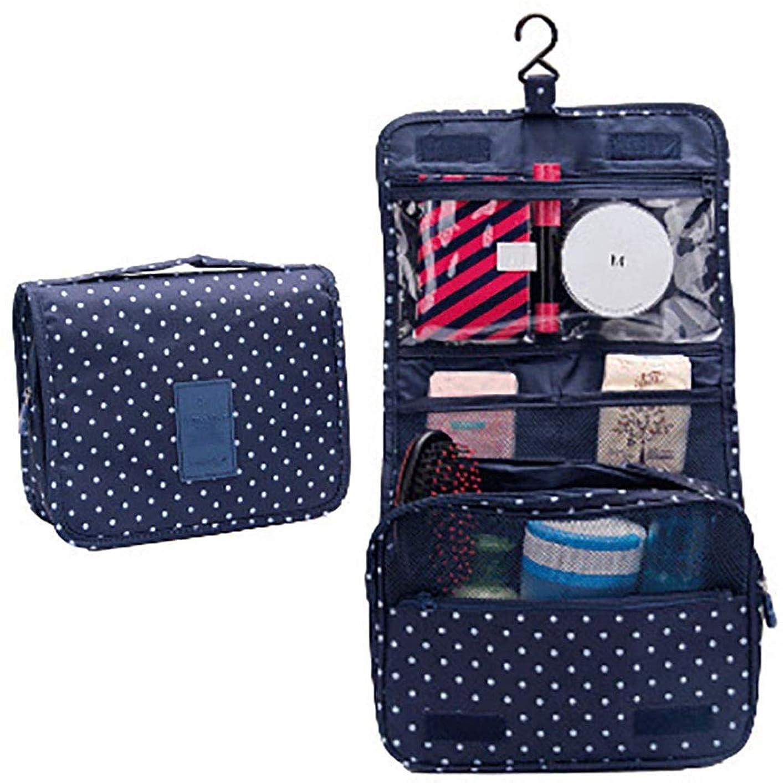 一緒に信者耕すChinashow ハンギング トイレタリー旅行バッグ化粧品袋 - 休暇用吊りフックとレディース メンズ キット向け 大容量 化粧品 化粧トラベルオーガナイザーバッグケース、ブルーポイント