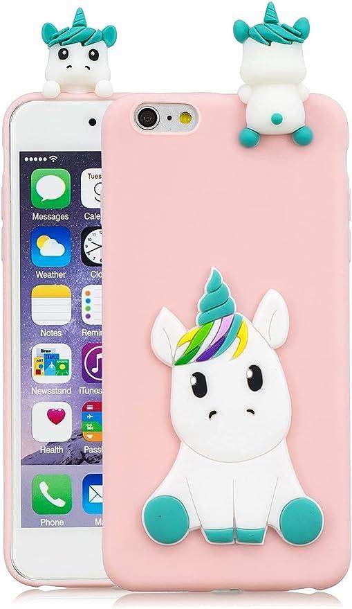 HopMore Compatibile con Cover iPhone 6S / 6 (4.7 inch) Silicone Disegni 3D Divertenti Fantasia Gomma Morbido Custodia iPhone 6 6S Antiurto Protettiva ...