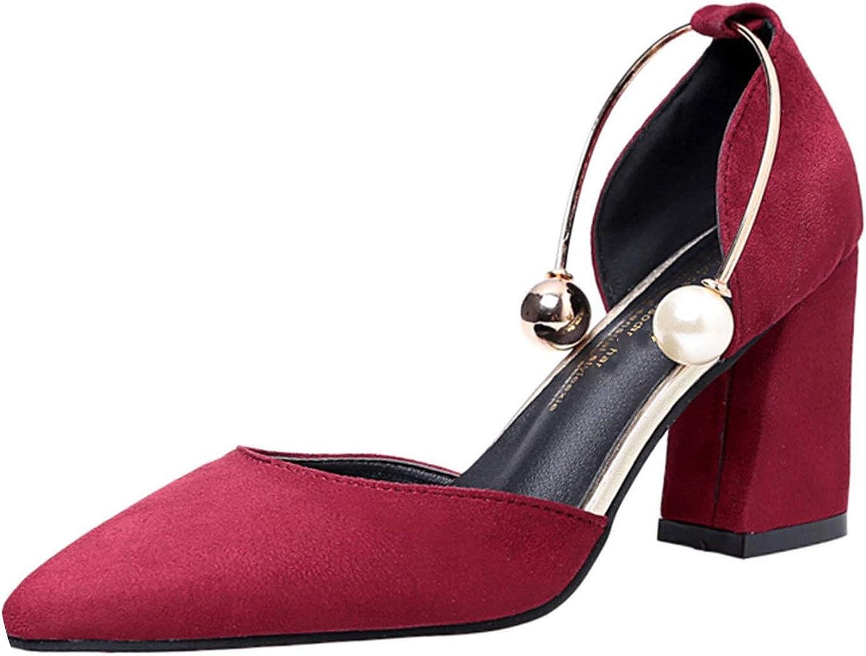 Luxury Heel shoes Women Summer Single Square shoes Sandals Elegant Party Heel shoes,Wine,7,C