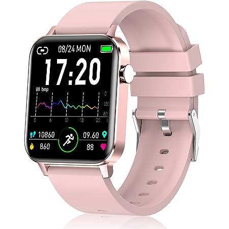 Judneer Smartwatch, Orologio Fitness con 1.4 Pollici Touchscreen a Colori Smart Watch Rosa, Impermeabile IP68 Cardiofrequenzimetro Smartband Contapassi, Sportivo Activity Tracker Cronometro per Donna