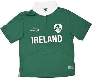Lansdowne Green Ireland Shamrock Crest Performance Short Sleeve Kids Rugby Shirt