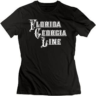 UrsulaA Women's Cotton Florida Georgia Line Tshirts Black