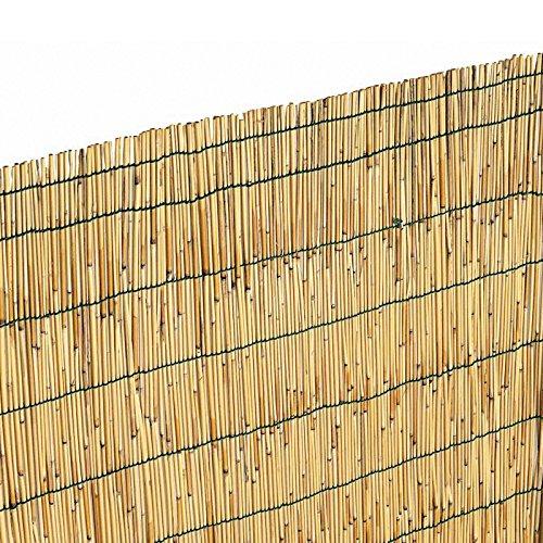 Canniccio Arella Stuoia Cannette Ombra Recinzione Esterno Rilegata 100x300cm EV