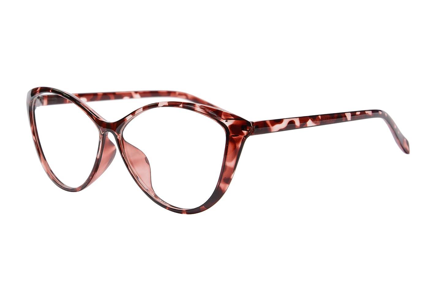 SHINU Oversize Cat Eye TR Frame, Blue Light Blocking Anti-fatigue Computer Gaming Glasses