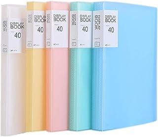 TUKA-i-AKUT [5x] PP Carpetas de fundas A4, 200 fundas PP Carpetas (5x40), Sólida Polipropileno Carpeta para archivo, Capacidad para 400 hojas, Cubrir Translúcido, Juego de 5 en 5 colores, TKD8018-5x
