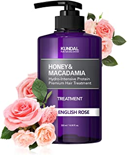 KUNDAL Honey&Macadamia Hydro-Intensive Protein Premium Nature Hair Treatment(English Rose) 500ml