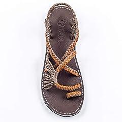 7ccf3823c33 Plaka Flat Sandals for Women Palm Leaf