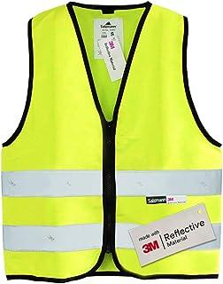 Salzmann 3M Chaleco de seguridad para niños | Hecho con cinta reflectante 3M | Amarillo