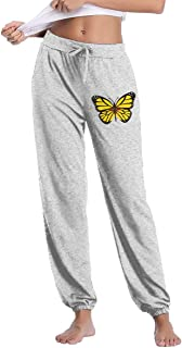 Women's Casual Sweatpants ButterFlag New Mexico Flag Light Weight Jersey Sweatpants Elastic Waist Pants