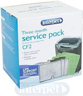 Interpet 3 Month Service Pack for the Interpet Internal Cartridge Filter CF2 (3 x Filter Cartridge, 3 x Algaway Pad)