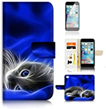 (for iPhone XR) Flip Wallet Case Cover & Screen Protector Bundle - A8205 Cute Pussy Cat