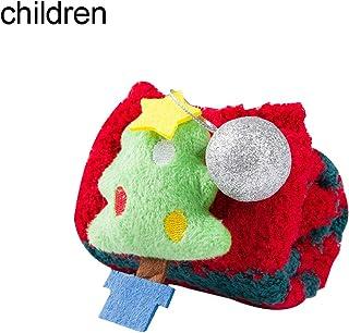 Sukisuki - Calcetines de bebé para Adultos con diseño de árbol de Navidad en 3D, Forro Polar Suave, Antideslizante, antiderrapante, Lana Coral, Christmas Tree*