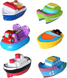 Baby Bath Toys NUOLUX 6pcs Floating Boat Toy