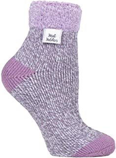 Feather Top Thermal Sleep Socks Grey Twist UK 4-8 US 5-9