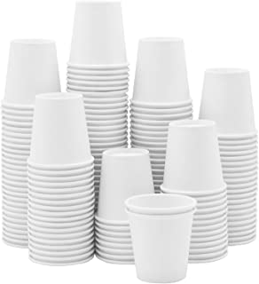 [300 قطعة] أكواب ورقية بيضاء 88.9 مل، حمام صغير للاستعمال مرة واحدة، اسبريسو، أكواب غسيل الفم