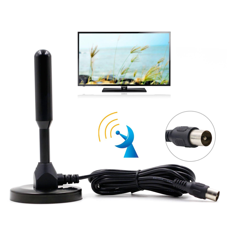 Domowin Antena Portátil con Base Magnética, Antena de Alta Ganancia TDT (Televisión Digital Terrestre) para Receptor TDT USB/Televisión DVB-T Negro: Amazon.es: Electrónica