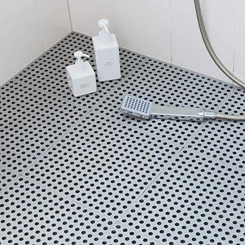 Tarnel お風呂マット 浴槽 滑り止めマット 転倒防止 介護用品 浴室マット 抗菌防カビ 無臭 環境保護材料製 (グレー 大判 12枚)