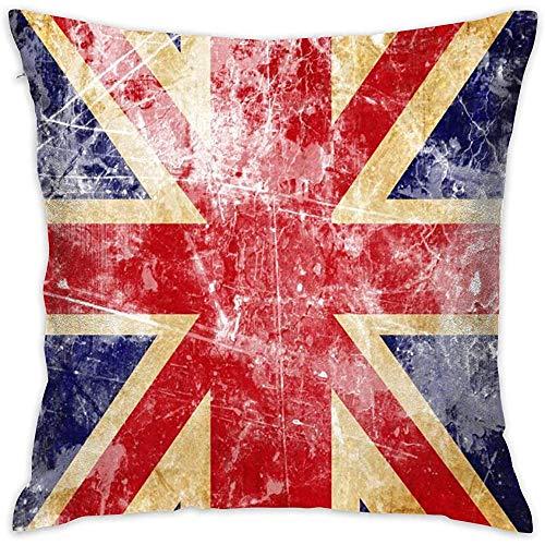 July Vintage UK Britse vlag Throw kussensloop zonder inzetstukken kussensloop voor Home Sofa Slaapkamer Huis Party
