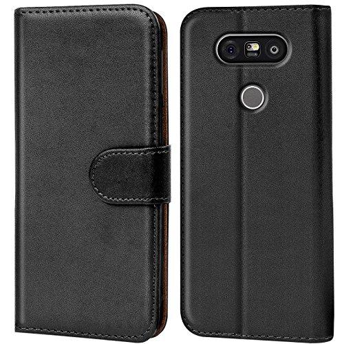 Verco Custodia per LG G5, Case per LG G5 Cover PU Pelle Portafoglio Protettiva, Nero