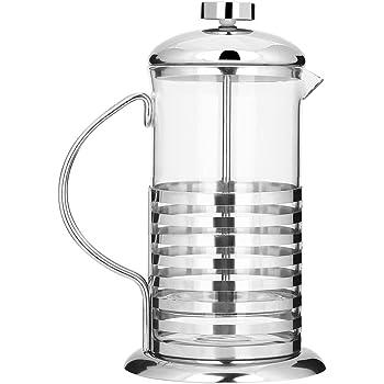 600ml/800ml Cafetera de Acero Inoxidable y Vidrio Cafeteras Francesa de Émbolo Filtro Presión de Mano para Café Té Socialme-eu(800ML): Amazon.es: Hogar