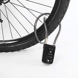 Smart Keyless Bluetooth Lock, 80cm Waterproof 110dB Wire Rope anti-theft Alarm Bicycle Locks