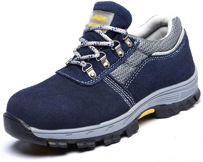EGS-schuhe Herren Outdoor-Sportschuhe, Sicherheitsschuhe, Anti-Smashing, Anti-Smashing, Anti-Rutsch, Anti-Rutsch,Grille Schuhe (Farbe   Blau, Größe   43)  Gratisversand