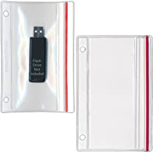 StoreSMART - Flash Drive Zipper Case for 3-Ring Binders - 10-Pack - Vinyl Plastic - R1831-FLASH10