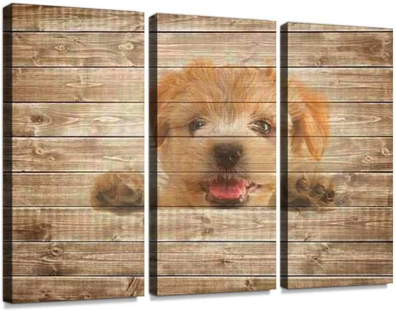 HABEN ARTWORK Cute Dog El 25% OFF Paso Mall Puppy on Print Pictures White Background