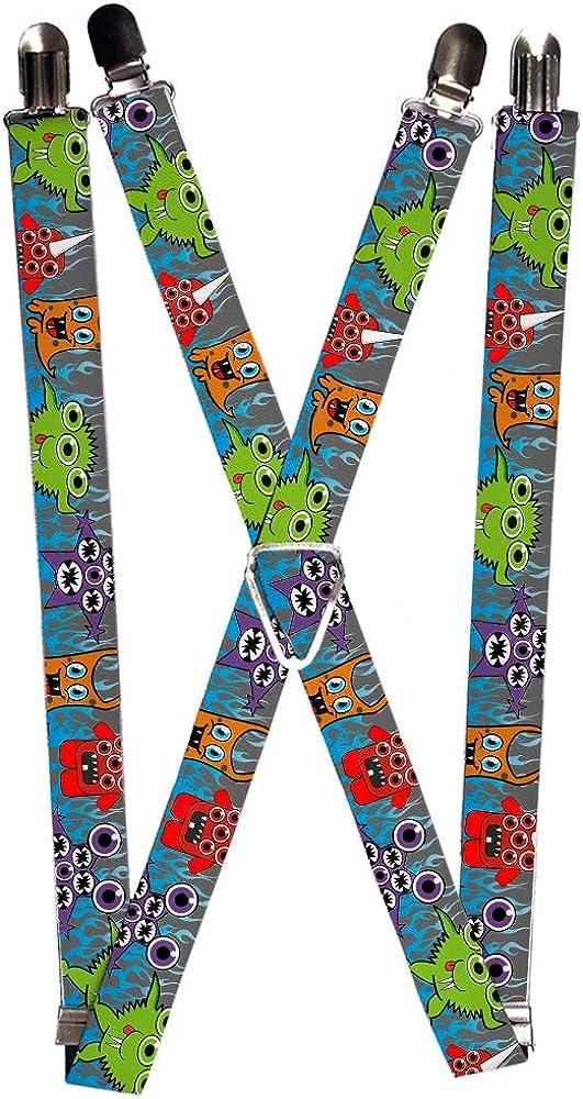 Buckle-Down Unisex-Adult's Suspender-Monsters