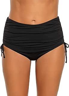 Women High Waist Swim Skirt Bikini Bottom Tie Side Tankini Skort