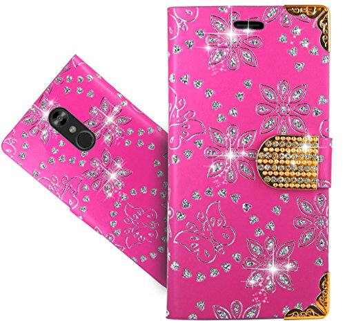 LG Stylo 4/LG Q Stylus Handy Tasche, FoneExpert Wallet Hülle Cover Bling Diamond Hüllen Etui Hülle Ledertasche Lederhülle Schutzhülle Für LG Stylo 4/LG Q Stylus