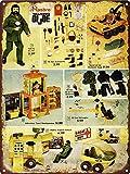 Yilooom 1972 Talking Gi Joe Mummy's Tomb Man Cave Metal Sign Repro 12'X 18'