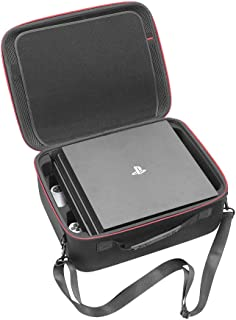 RLSOCO Hard Shell Carrying Case for Playstation 4 / Playstation 4 Pro Console and Accessories - Fits for PS4 Controllers, Headsets, Mobile Hard Drive, Cables