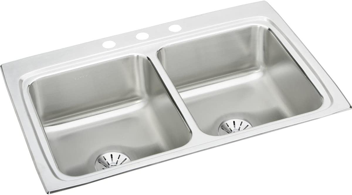 Elkay LR3322PD1 Lustertone Classic Many popular overseas brands Equal Bowl Sta Double Drop-in