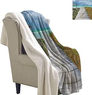Jaydevn Beach Cozy Flannel Blanket Cuban Coastline Wild Nature Super Soft Blanket for Coach, Sofa,Bed 60x78 Inch