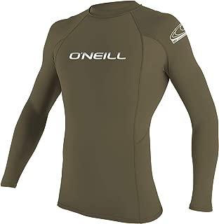 O'Neill Men's Basic Skins Long Sleeve Rashguard M Khaki (3342IB)