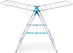 Bathla Mobidry Neo - Foldable Clothes Drying Stand with Weather Resistant Frame (Blue)