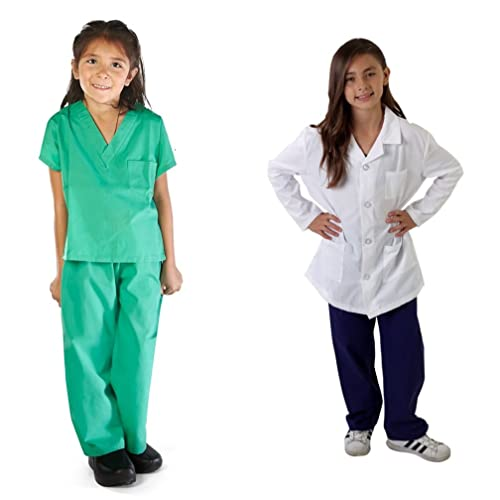 d53490e612a M&M SCRUBS Super Soft Children Scrub Set and Lab Coat Combo Kids Doctor  Dress up