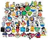 Trading Pins 25 Assorted Pin Lot - Brand New Pins - No Doubles – Tradable Individually Bagged Pins Rubber Mickey Back Pins Fast Shipping