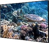 celexon Home-Cinema Rahmen-Leinwand Dynamic Slate ALR, Rahmenleinwand mit idealer Tuchlage, Hoch-Kontrast-Leinwand - 280 x 158cm - 16:9 - Gain 0,8