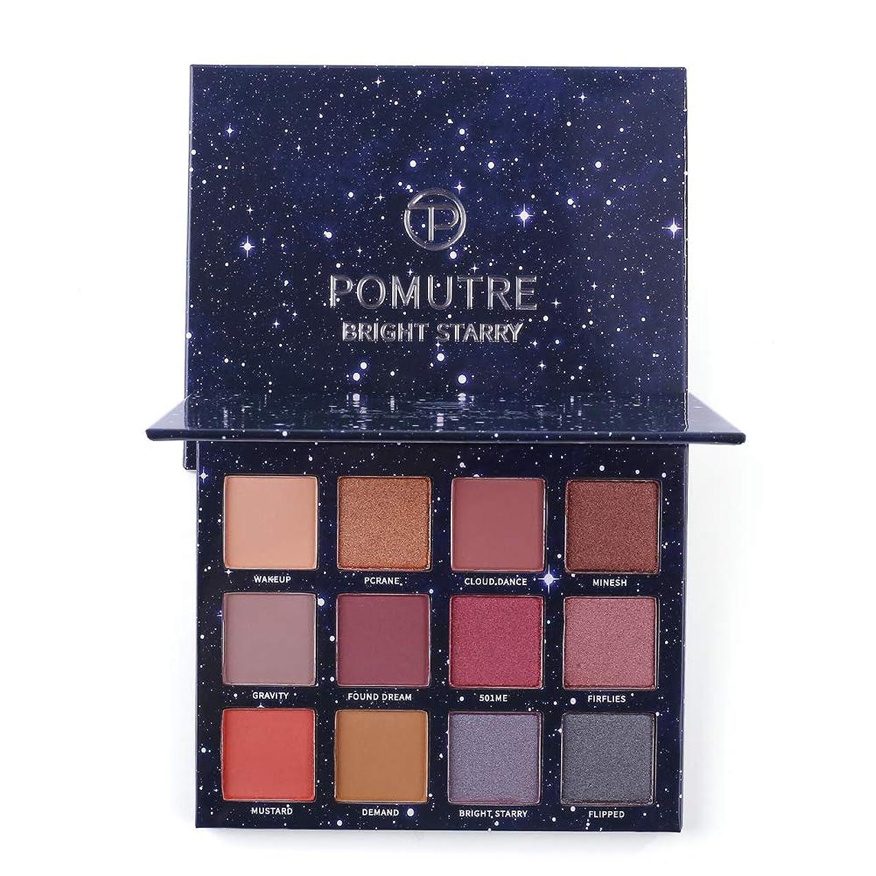 本土従順著名な明るい星空のメイクパレットオレンジピンク12色のアイシャドウパレットBae Matte Shimmer Maquiagem eyeshadow palette