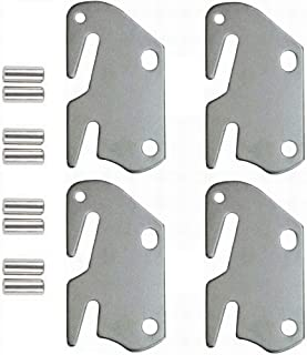 lusata Wooden Bed to Catch Hook Plates Bed Rail Brackets Hook Plates,Claw it On Intended Replacement for Bed Set of 4