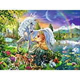 Jigsaw Puzzles 1000 Pieces for Adults Prime, Garden Unicorn & Fairy Wooden Puzzles -Wooden Puzzles Jigsaw Pieces for Adults and Kids- Best for Family Game Play Collection.