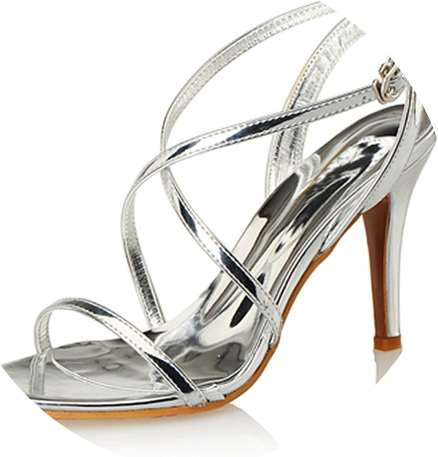 Sexy Sandals Woman Summer shoes High Heels Cross Strap Peep Toes Women Party shoes High De