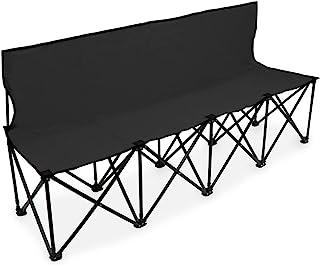 کالاهای ورزشی تاج 6 فوت قابل حمل تاشو 4 صندلی صندلی با پشت صندلی و کیف حمل - نیمکت تیم عالی برای فوتبال و فوتبال خطوط توپ ، خیاطی ، اردو و رویدادها