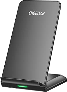 CHOETECH Wireless Charger, Fast Qi Wireless Charging Stand 7.5W Compatible with iPhone 11/11 Pro Max/XS/Xr/XS Max/X/8, 10W...