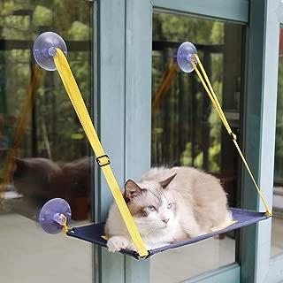 con Ventana y Vista al Sol Transpirable Amy Huanhuan Hamaca para Gato con Ventosa para Colgar en la Cama con Rejilla para Gato